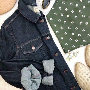 Gap Dark Denim Contrast Stitch Jacket